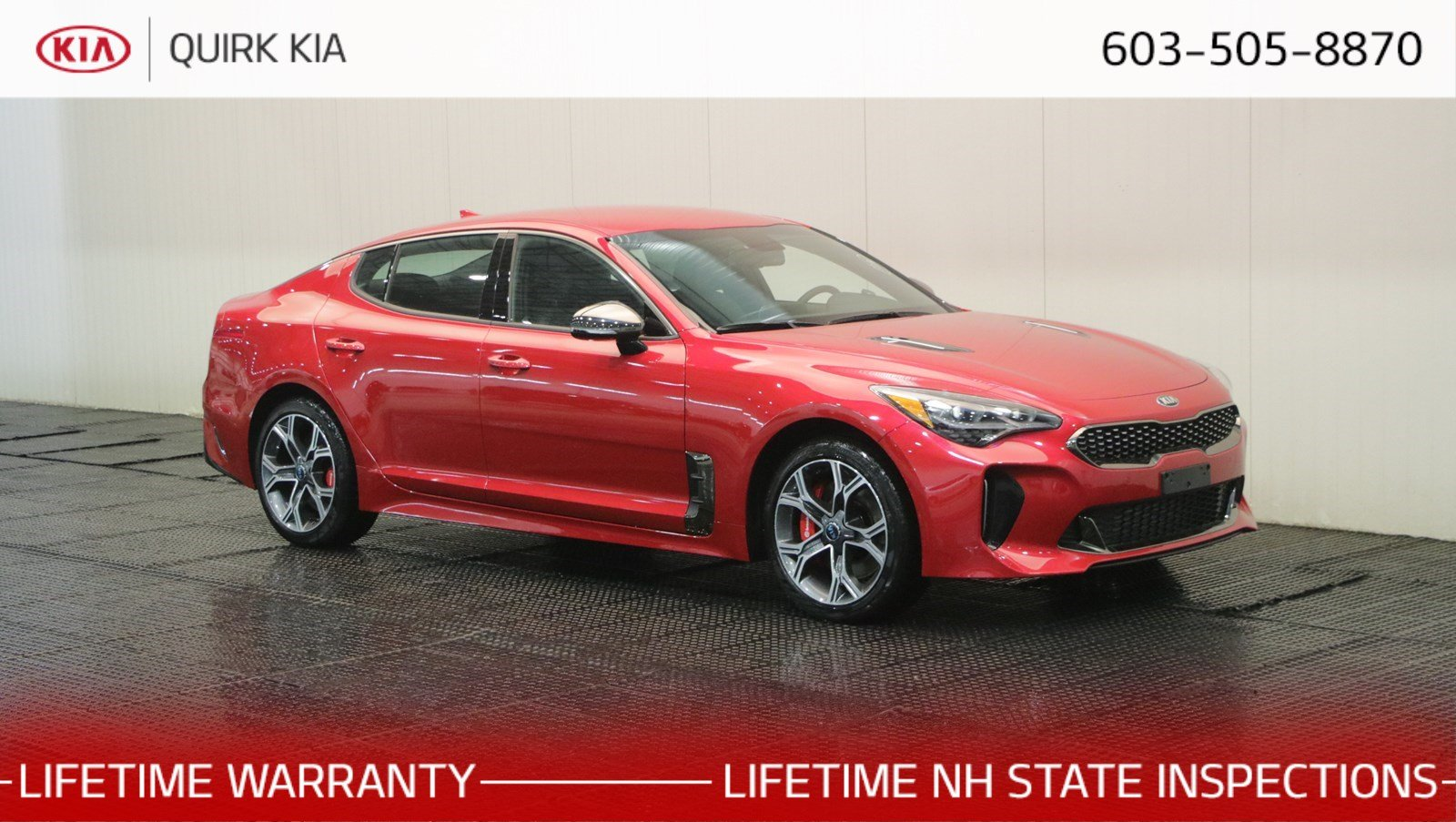New 2019 Kia Stinger Gt 4dr Car In Manchester Ks3164 Quirk Kia